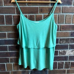 Green Cabi tired tank top size s